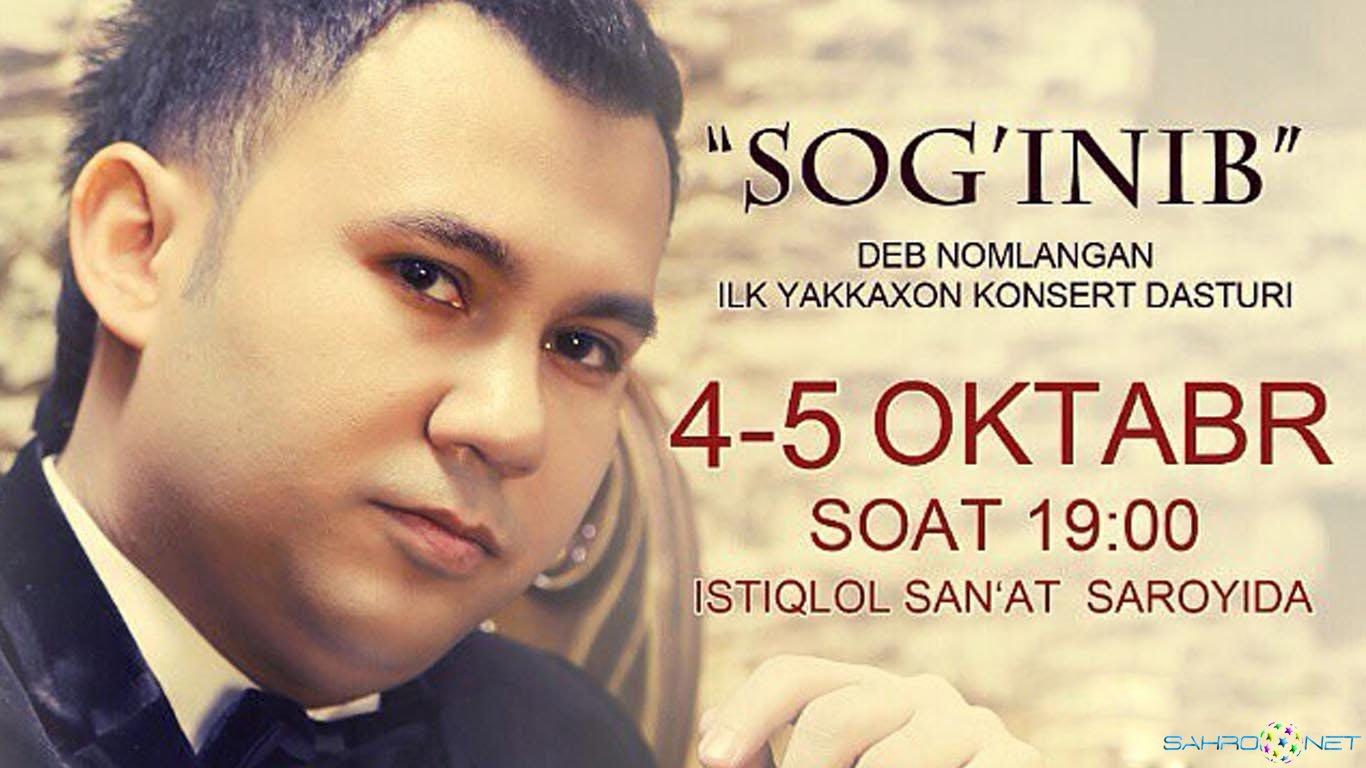 """Doston Ubaydullayev -""""Sog'inib"""" konsert dasturi 2014"""