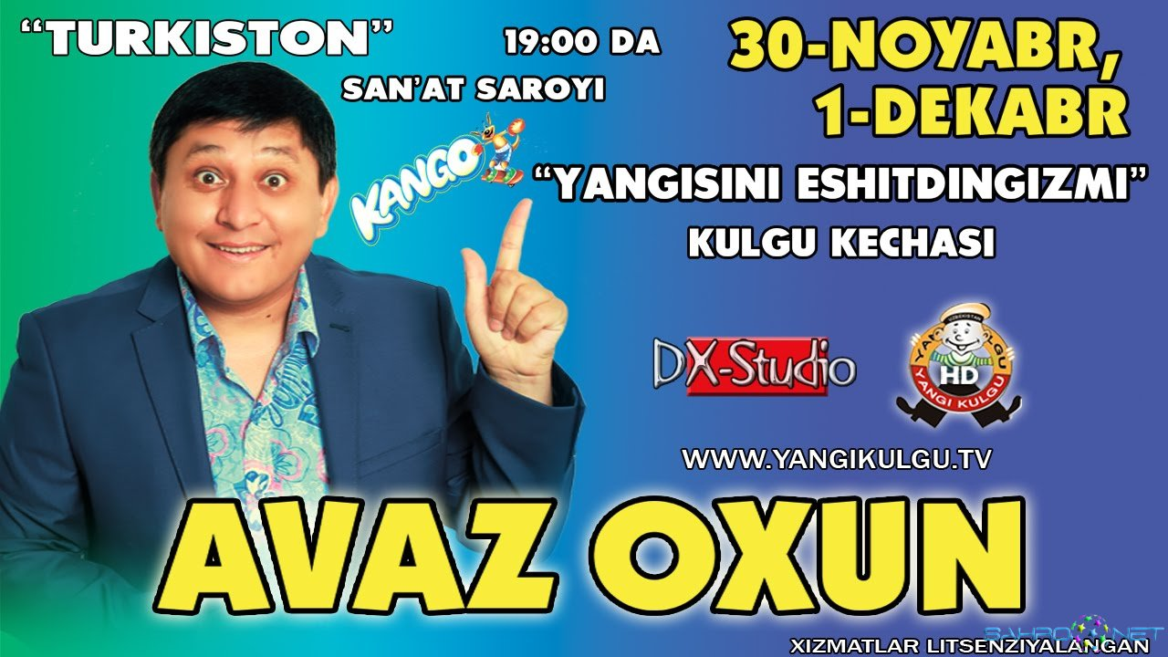 """Avaz Oxun - """"Yangisini eshitdingizmi"""" konsert dasturi 2014"""