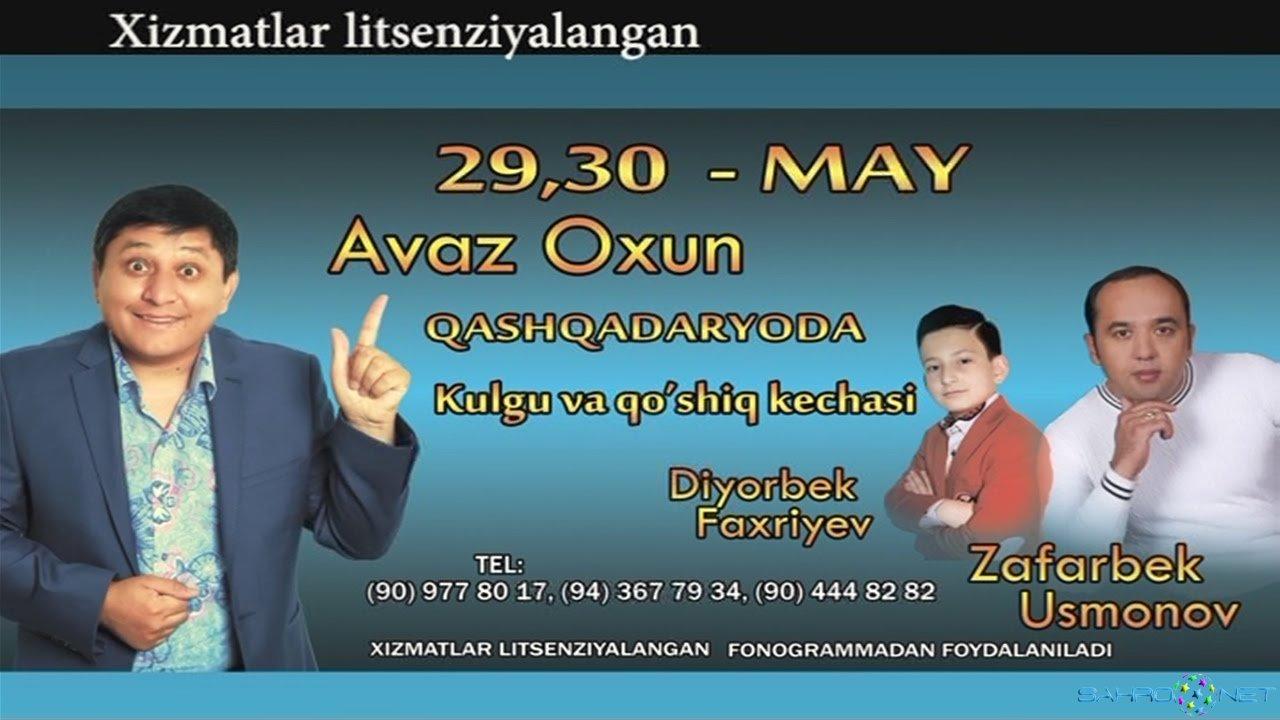 Afisha: Avaz Oxun - Qashqadaryoda 29-30may kunlari konsert beradi 2015