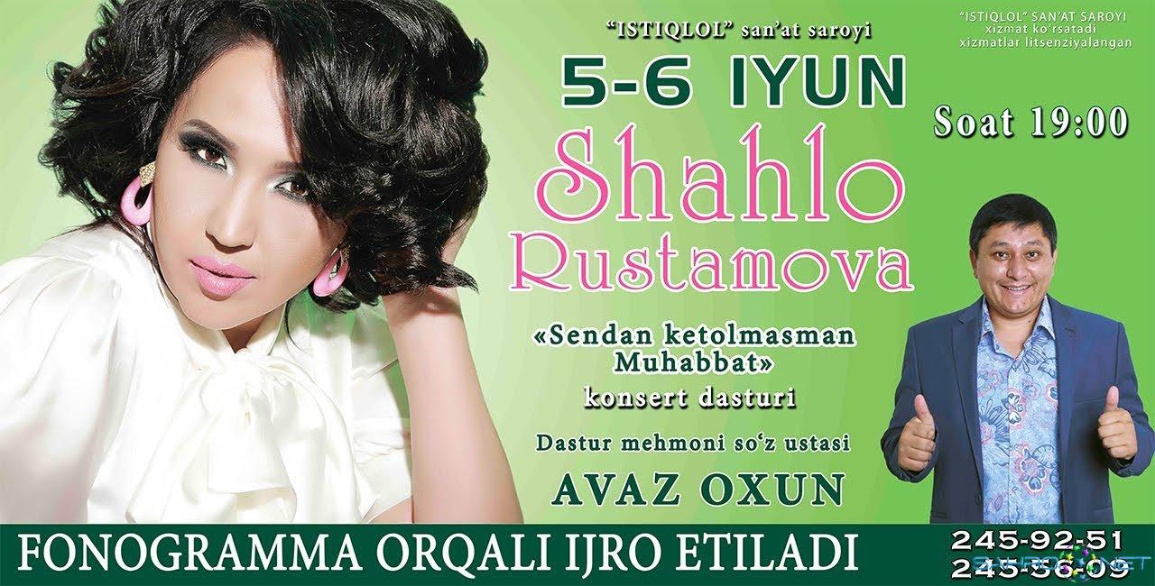 """Shahlo Rustamova - """"Sendan ketolmasman muhabbat"""" konsert dasturi 2015"""