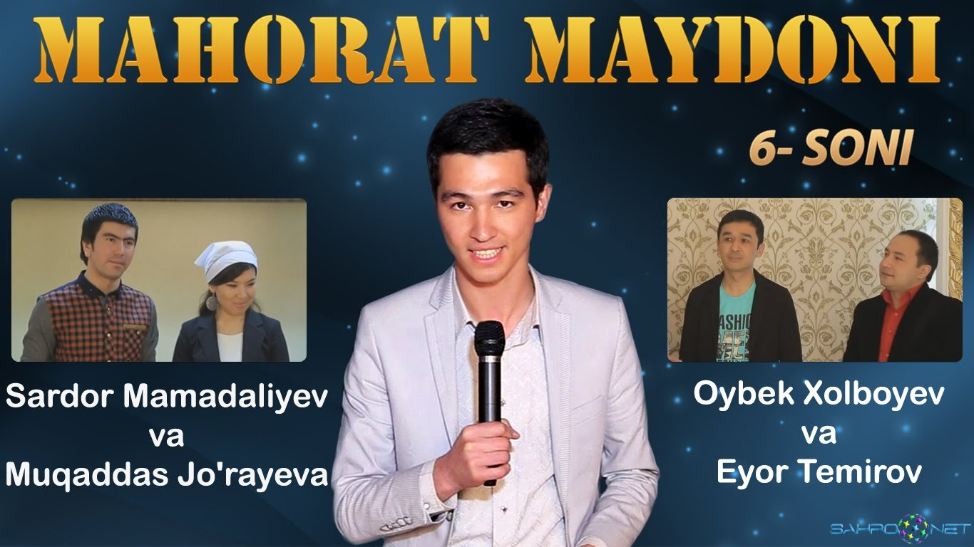 Mahorat maydoni 2016 O`zbek TV korsatuvlar
